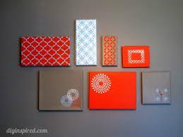 shoe box lid wall art diy inspired
