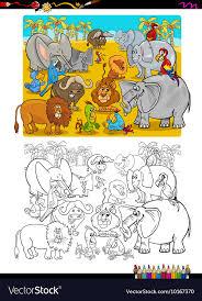 Safari Animals Template Safari Animals Coloring Book