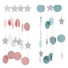 Us 1 02 32 Off 2m Dot Paper Garland Happy Birthday Bunting Banners Hanging Paper Flags String Streamer Baby Shower Birthday Party Supplies In