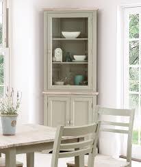 florence corner glass display cabinet sage green kitchen dresser assembled