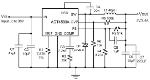 acta typical application reference design dc to dc single image