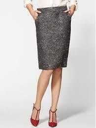 Tweed Skirt Pim Larkin Metallic Tweed Pencil Skirt