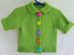 Hand Knitted Sweaters Designs For Baby Girl Baby Girl Sweater Hand Knitted Green Cardigan With Flower