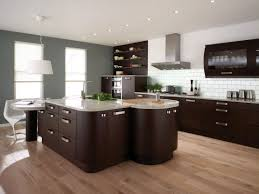 Oak Floors In Kitchen Kitchen Sweet And Charming Contemporary Black Kitchen Design With