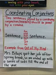 Conjunction Chart Fanboys Coordinating Conjunctions Anchor Chart Blog Post On