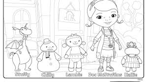 Small Picture Doc Mcstuffins and Friends at the Clinic Coloring Pages Disney