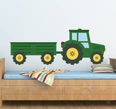 kids green tractor wall sticker
