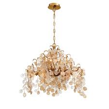 eurofase lighting campobasso gold 11 light chandelier
