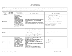 Recruitment Plan Template Recruitment Plan Examples Sop Proposal 3