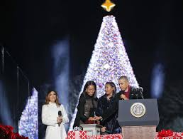President Obama Christmas Tree Lighting The First Family Lights The National Christmas Tree For The