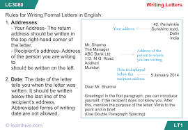 Learnhive | Icse Grade 7 English Letter Writing - Lessons, Exercises ...