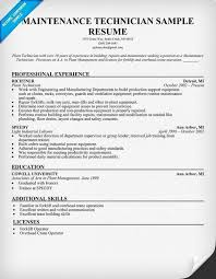 Maintenance Technician Resume Best General Maintenance Technician Resume Loveable Building Maintenance