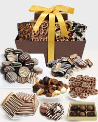 chocolate covered pany artisan crafted belgian chocolate gift basket