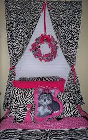 Zebra curtains for bedroom pink black white