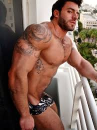 Pictures men muscle hairy