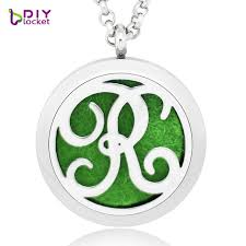 top perfume letter aromatherapy diffuser locket pendant memory photo locket 316l stainless steel necklace lsar227
