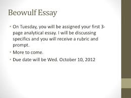 ppt the seafarer powerpoint presentation id  beowulf essay