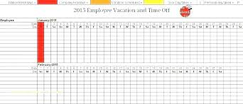 Employee Time Off Tracker Template Andeshouse Co