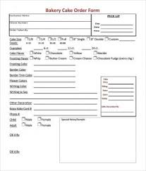 Bakery Order Template Bakery Order Form Templates All Form Templates