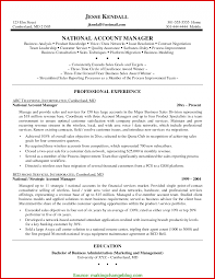 Unusual National Account Manager Resume Examples Account Manager