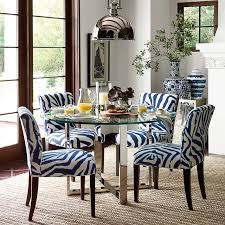 Mercer Round Dining Table with Glass Top