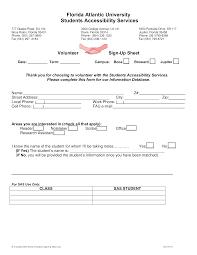 Volunteer Sign Up Sheet Templates At Allbusinesstemplates