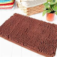 tidetex modern microfiber chenille bath mat soft fluffy bathroom rug rectangle washable rugs high durability plush