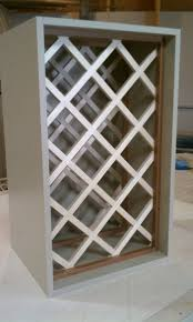 how to build a lattice wine rack over the refrigerator image
