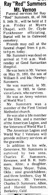 Ray Summers obituary Mt Vernon IL - Newspapers.com