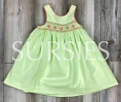 Stellybelly Size Chart Details About Smocked Dress Janie And Jack Baby Girl Sundress Lime Green Orange Size 3 6m