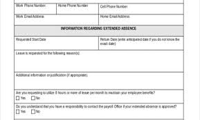 Leave Of Absence Form Template Employee Absence Form Template Ndtech Xyz