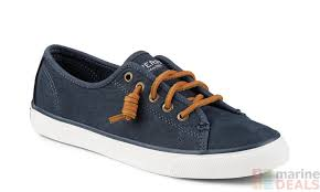 product images sperry womens seacoast washable leather sneakers navy