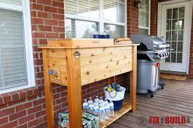 diy patio cooler grill cart 109