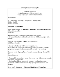 Nanny Resume Examples Lovely Example Nanny Resume Examples Of