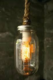 diy lighting mason jars. vintage retro mason jar pendant light with hessian rope cable loft warehouse industrial feel lights canada diy lighting jars