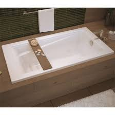 maax exhibit 6042 rectangular soaking bathtub 60 x 42 x 18 drop in installation acrylic