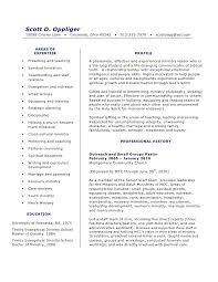 Gallery Of Sample Resume For Pastors Youth Minister Resume