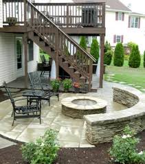 paver patio with deck. Interesting Deck Paver Patio Under Deck And Side With Stone Veneer Firepit Sitting  Wall Elizabeth Lockhart Lockhau2026 Throughout Patio With Deck