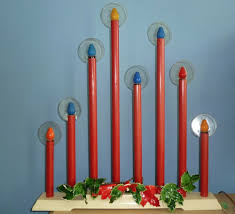 8 Light Christmas Candolier Vintage Electric Christmas Candles Halo 8 Light 1957 Tall
