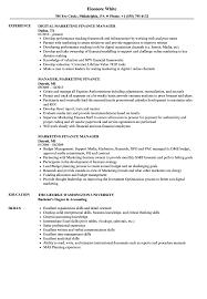Time Management Skills Resume Samples Marketing Finance Resume Samples Velvet Jobs 17