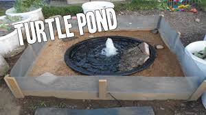 making a turtle pond you outdoor turtle pond