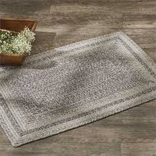 details about hartwick braided area rug rectangle 4 x 6 by park designs dark light gray