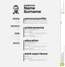 Cv / resume template with nice typography