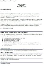 Resume For Retail Position Retail Store Manager Resume Retail