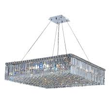 cascade collection 12 light polished chrome chandelier with clear crystal