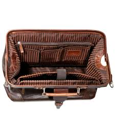 jack georges voyager doctor s bag 7575 handmade in hand stained brown buffalo