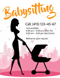 Babysitting Templates Flyers Babysitter Flyer Template Postermywall