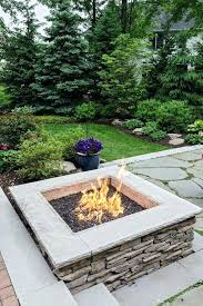 gas fire pit stones rustic landscape yard with raised beds smooth ledge square natural gas fire pit exterior stone floors fire pit gas fire pit glass stones