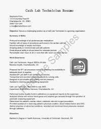 New Medical Lab Technician Sample Resume Job Description Template