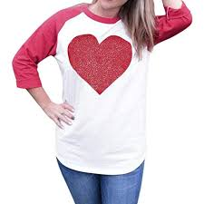 Moonhouse 2018 Happy Valentines Day Women Casual Sequins